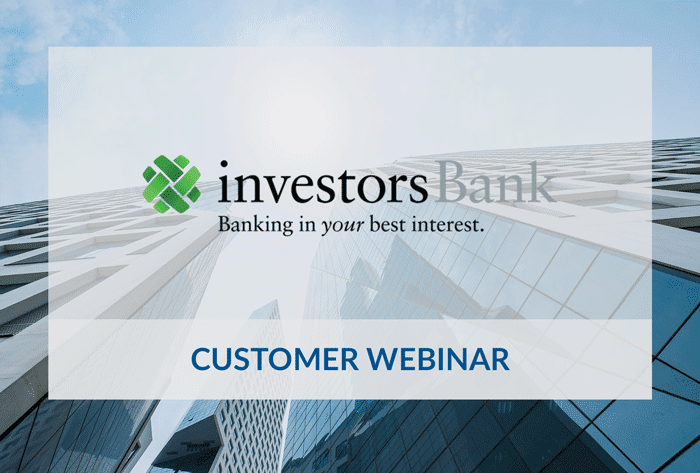 Investors Bank customer webinar with Saviynt.
