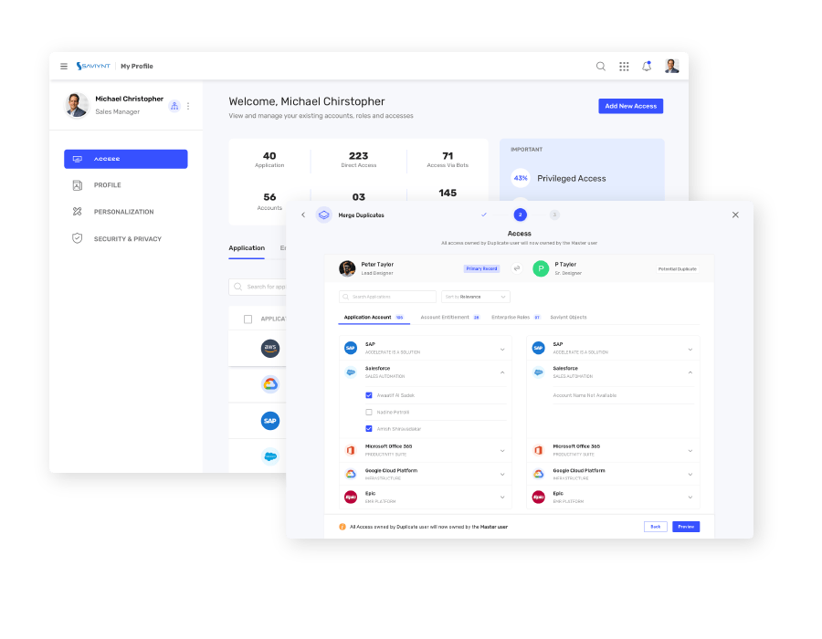 Intelligent Identity Warehouse & Analytics UI