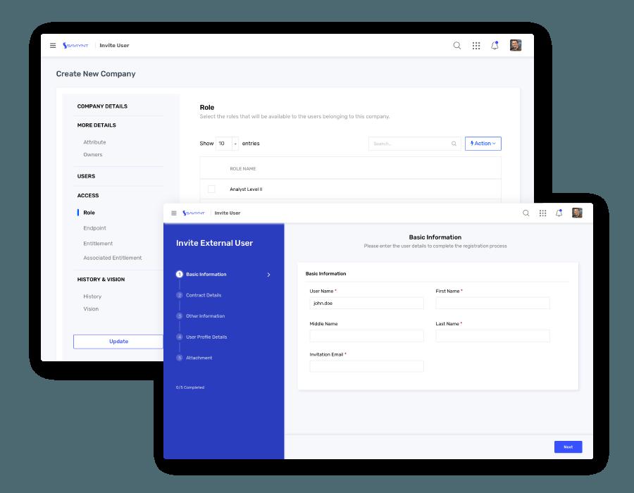 Third-Party Access & Risk Management UI